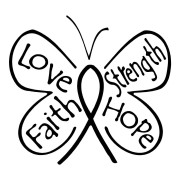 Love Faith Strength Hope Cancer Survivor Stickers