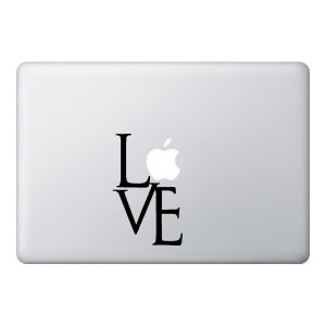 Love Mac Laptop Stickers