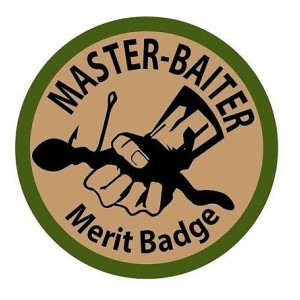 Master Baiter Funny Stickers