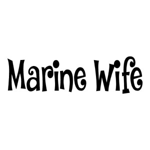 Marine Wife Stickers