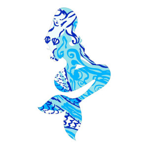 Blue Mermaid Waterproof Stickers