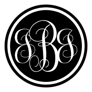 Monogram Circle Round Stickers