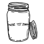 Moonshine Jar Funny Stickers
