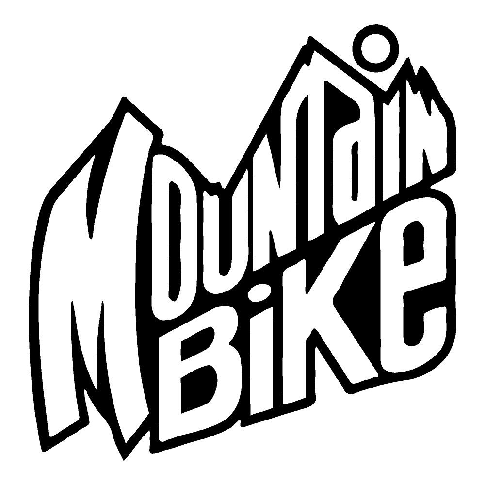 Mountain Bike Die Cut Sticker