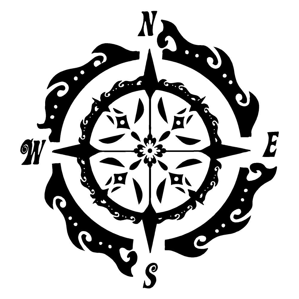 Abstract Nautical Compass Stickers