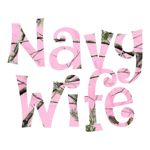 Navy Wife Pink Camo Waterproof Stickers
