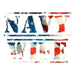 Navy Wife American Flag Waterproof Stickers