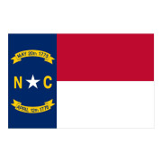 N.C. Flag Waterproof Stickers