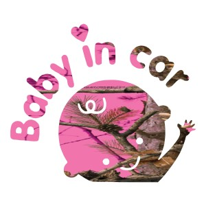 Neon Pink Baby in Car Decals Truck Stickers