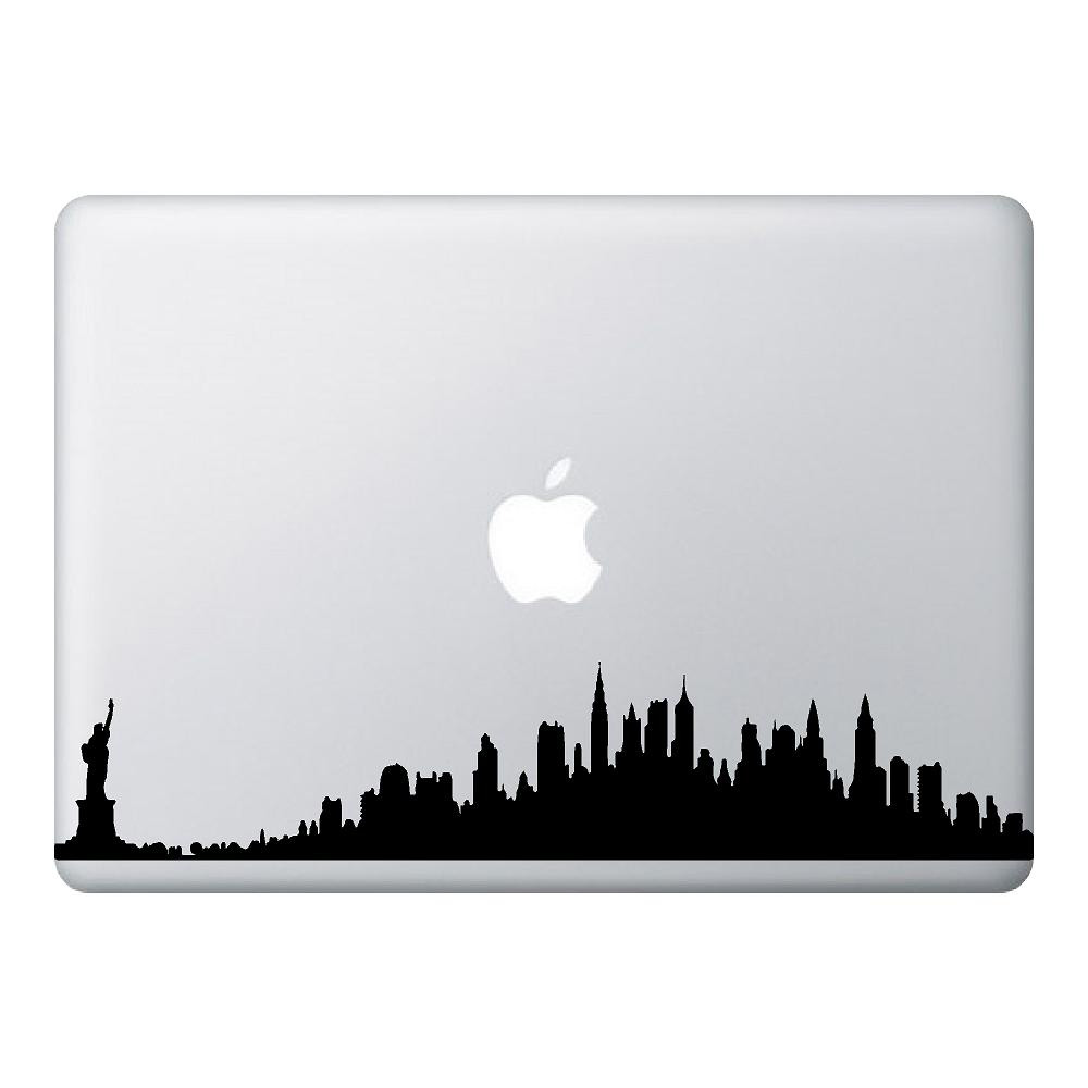 NYC Skyline Mac Laptop Stickers