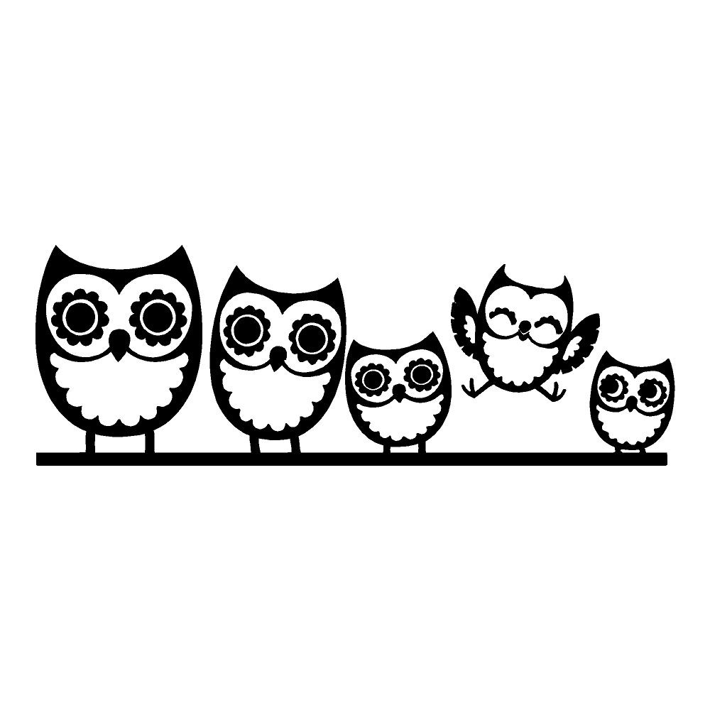Owl Family Die Cut Stickers