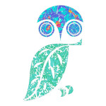 Blue and Green Owl