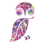 Pink and Purple Owl Sticker