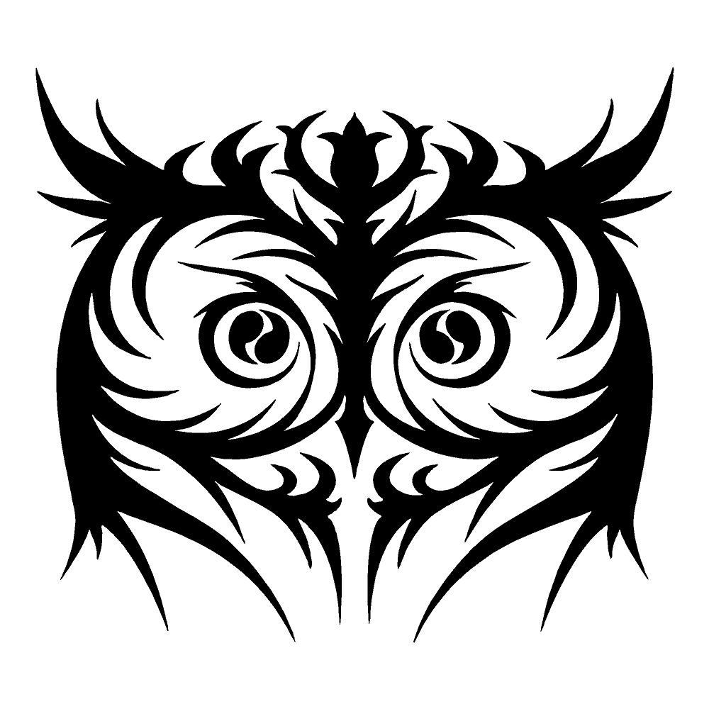 Tribal Face Owl Sticker