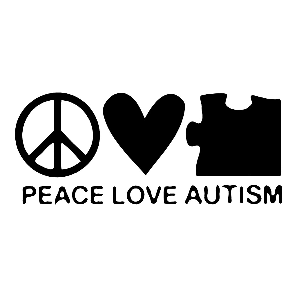 Peace Love Autism Sticker Autistic Car Decals Life