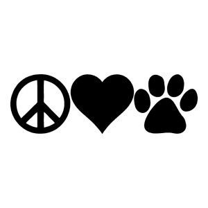 Peace Love Paw Animal Stickers Car Decal Paw Print