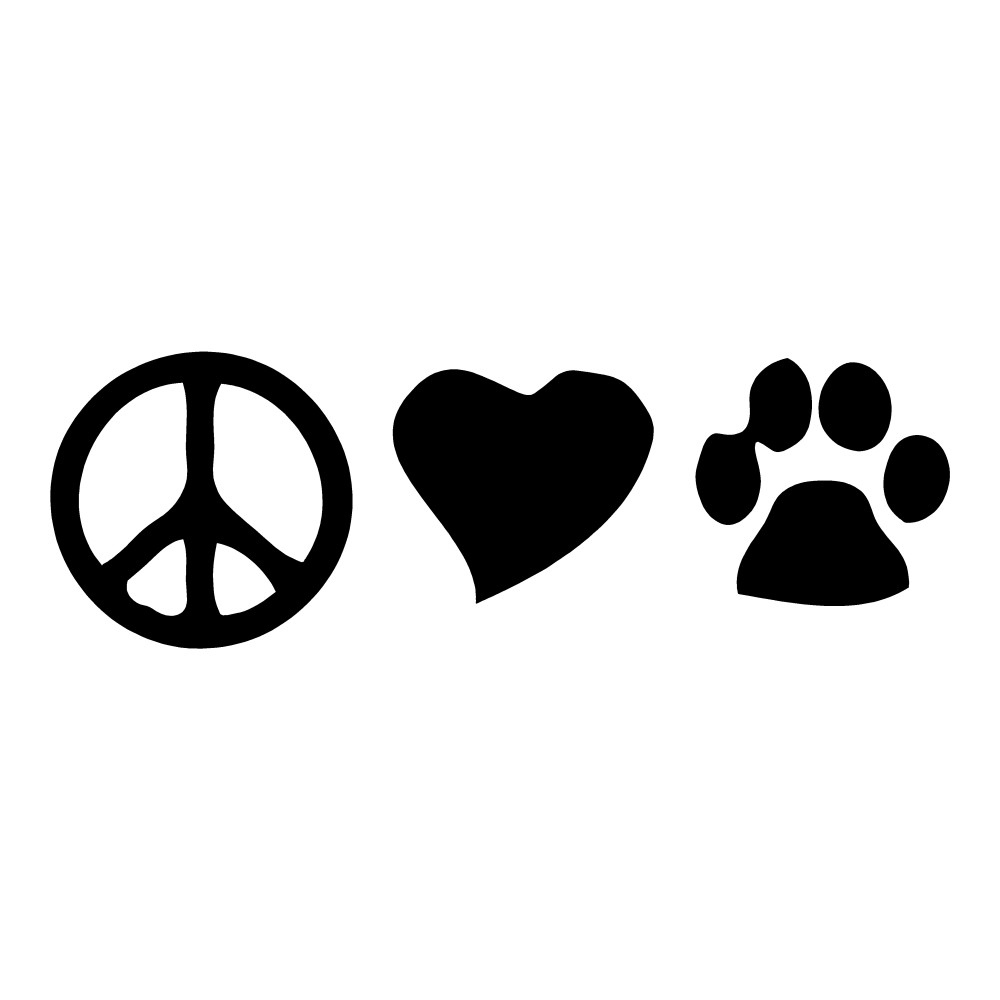 Peace Love Pets Animal Stickers Car Decals Wall Decals