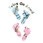 Pink and Blue Camo Babies on Board Truck Stickers