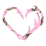 Pink Camo Antler and Fish Hook Hunting Stickers