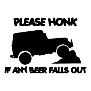 Please Honk Funny Stickers