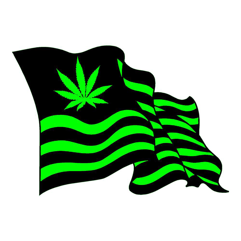 Pot Flag Dark Funny Stickers