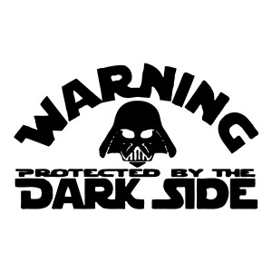 Protected by the Dark Side Waterproof Stickers