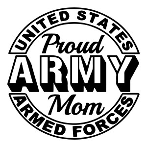 Proud Army Mom Military Stickers