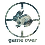 Rabbit Game Over Hunting Stickers