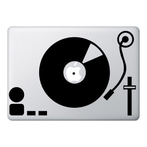 Record Player Mac Laptop Stickers