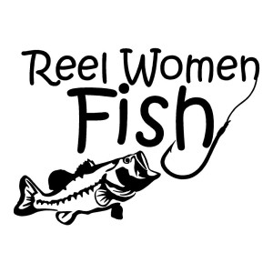 Reel Women Fish Die Cut Sticker