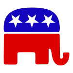 Republican Elephant Die Cut Stickers