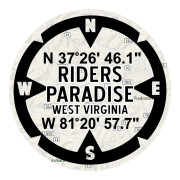 Riders Paradise West Virginia Motorcycle Stickers Waterproof Stickers
