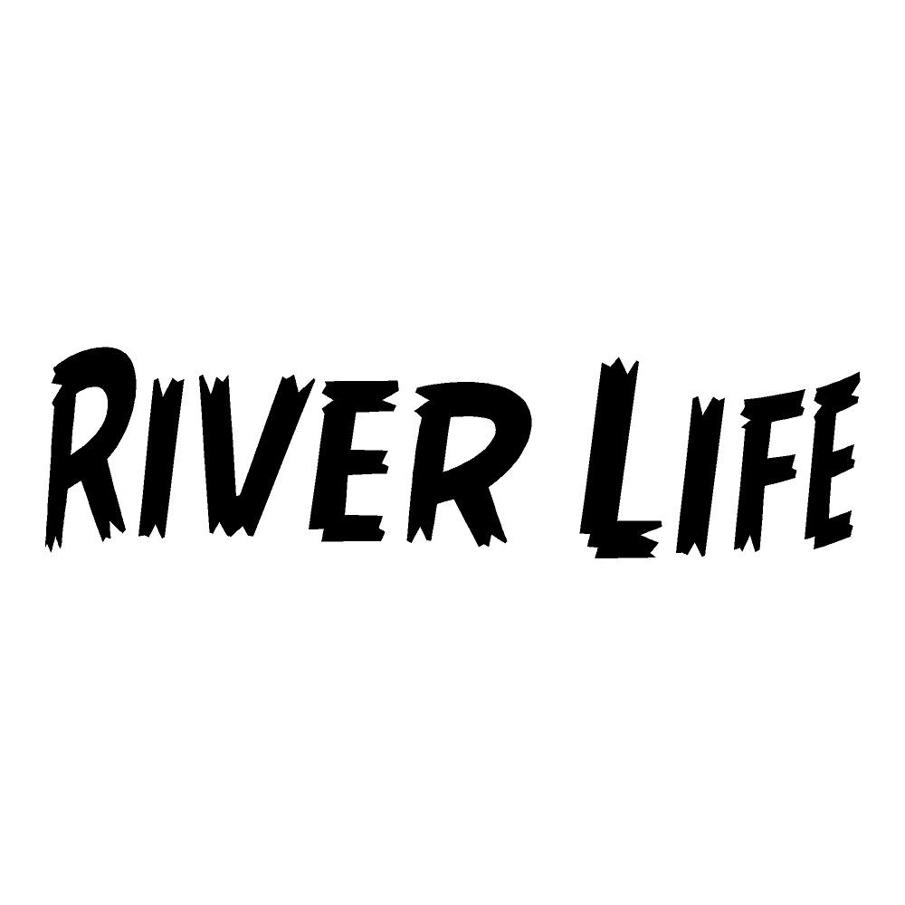River Life Die Cut Sticker