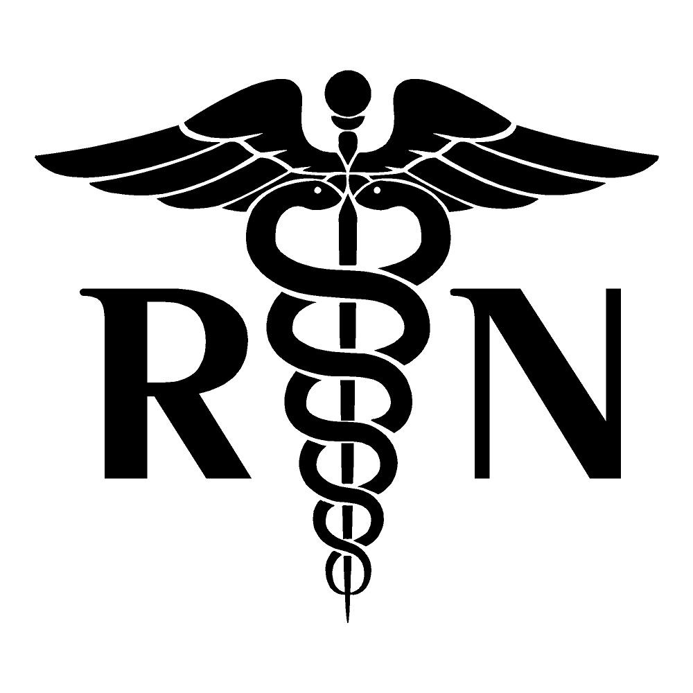 Registered Nurse Sticker Medical Stickers Health Decals