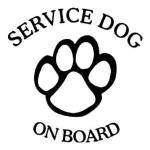 Service Dog on Board Waterproof Stickers