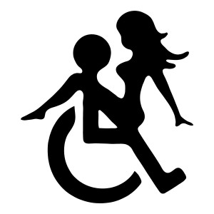 Sexy Wheel Chair Funny Stickers