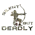 Silent but deadly camo hunting stickers