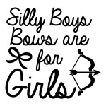 Silly Boys Bows Hunting Archery Sticker