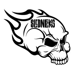 Slednecks Skull Waterproof Stickers