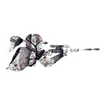 Snow Camo Girl Shooting Gun