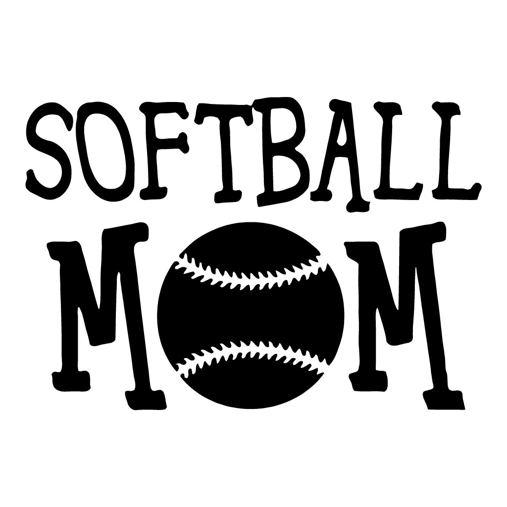 Softball Mom | Family Stickers | Sports | Auto Decals