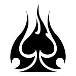 Spades Sticker Tribal Spades Sticker Car Decals