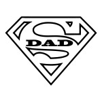 Super Dad Waterproof Stickers