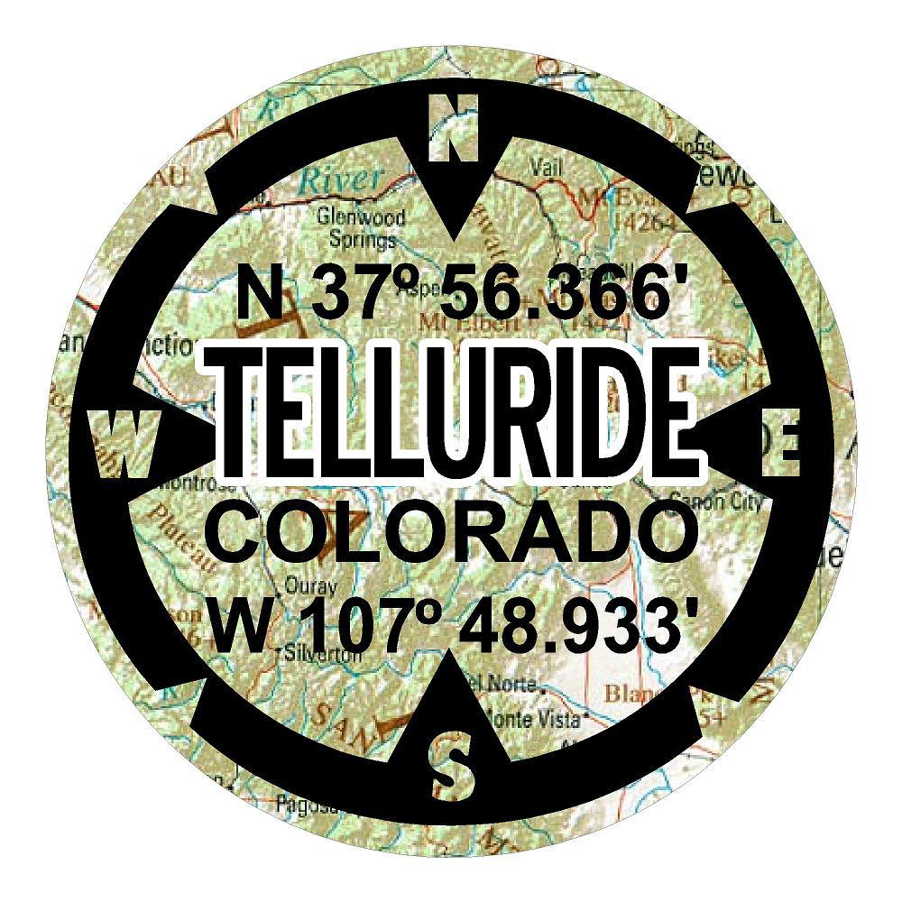 Telluride Colorado Sticker Compass Car Decals Wall Decal