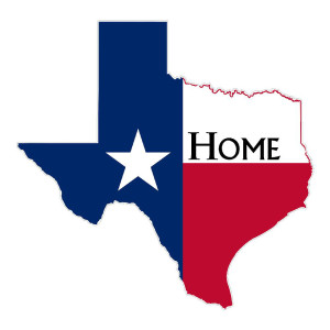 Texas Home Die Cut Stickers