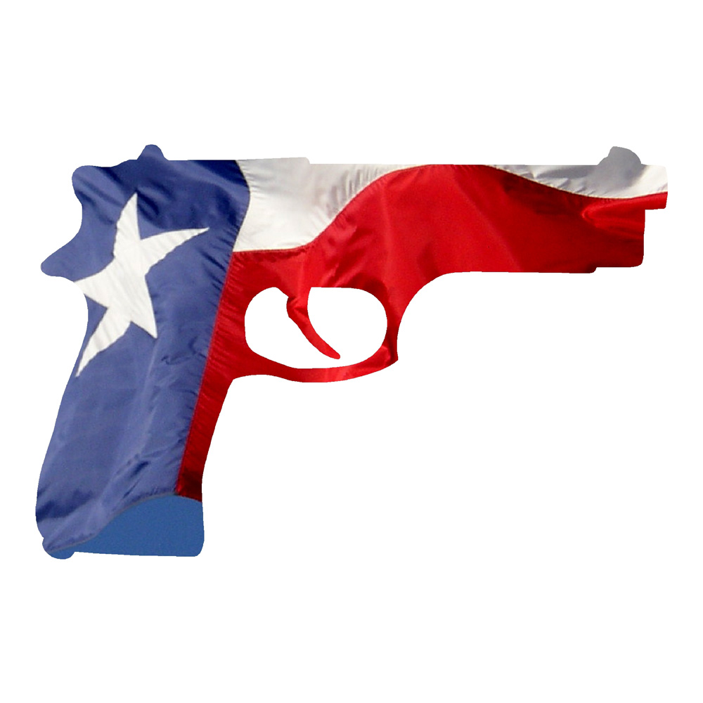 texas pistol stickers