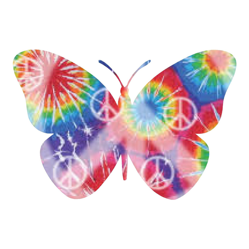 Tie Dyed Peace Sign Butterfly Sticker