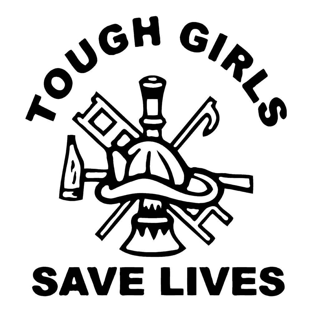 Tough Girls Save Lives Waterproof Stickers