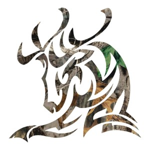 Tribal Camo Buck Head Hunting Stickers