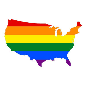 United States Rainbow Patriotic Stickers